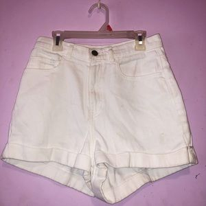 White High Rise American Apparel Denim Shorts ✨